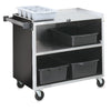 THREE SHELF BUSSING CART - BLACK - VOLLRATH # 97182