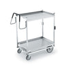 TWO SHELF CARTS WITH STANDARD LOWER SHELF - STAINLESS STEEL - VOLLRATH # 97205