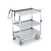 THREE SHELF CARTS WITH STANDARD LOWER SHELF - STAINLESS STEEL - VOLLRATH # 97208