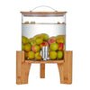 DISPENSER WITH WOODEN BASE - TQVAI # CL205
