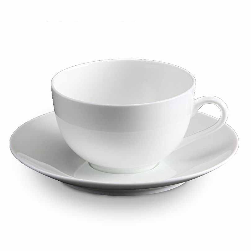 BONE CHINA CUP & SAUCER - WHITE - DON BELLINI # DB1030020