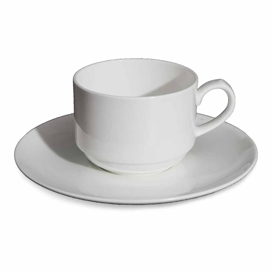 BONE CHINA CUP & SAUCER - WHITE - DON BELLINI # DB1030023