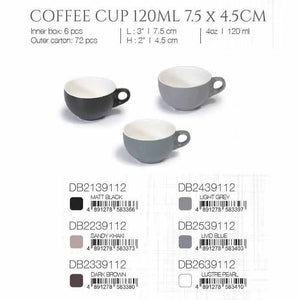 DE TERRA COFFEE CUP 120ML 7.5 x 4.5CM - MATT BLACK - DON BELLINI # DB2139112