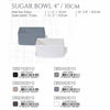 "DE TERRA SUGAR BOWL 4"" l 10cm - SANDY KHAKI - DON BELLINI # DB2253010"