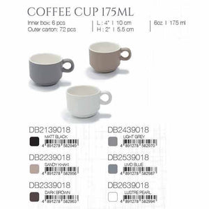 DE TERRA COFFEE CUP 175ML - LIGHT GREY - DON BELLINI # DB2439018