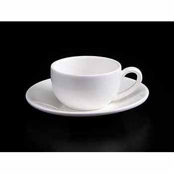 FINE CHINA 3 OZ | 100 ML COFFEE CUP & SAUCER - WHITE - DON BELLINI # DB3030010