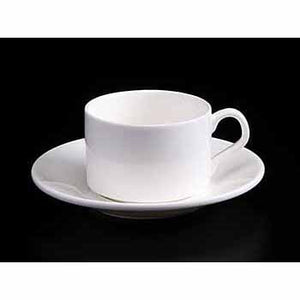 FINE CHINA 5 OZ | 160 ML TEA CUP & SAUCER - WHITE - DON BELLINI # DB3030016