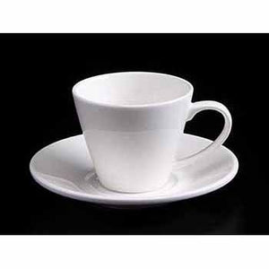 FINE CHINA 6 OZ | 180 ML TEA CUP & SAUCER - WHITE - DON BELLINI # DB3030118
