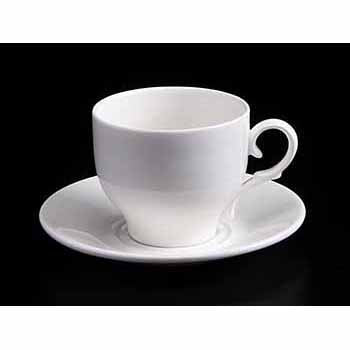 FINE CHINA 7 OZ | 220 ML TEA CUP & SAUCER - WHITE - DON BELLINI # DB3030122