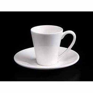 FINE CHINA 4 OZ | 110 ML COFFEE CUP & SAUCER - WHITE - DON BELLINI # DB3033011
