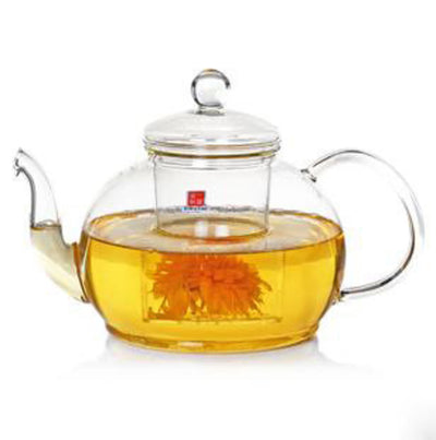 Heat Resistant Borosilicate Glass Teapot with Filter 1.2L