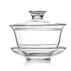 160ML GLASS TEACUP W/COVER (L) - FIRST HOUSE # FH-333LS3