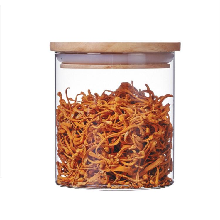 STORAGE JAR WITH WOODEN LID - TQVAI # FM003