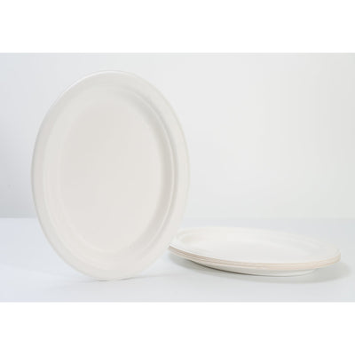 "10"" OVAL PLATE 100% BIODEGRADABLE (10PCS/PACK x 3)"