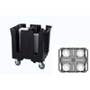 TRAEX ADJUSTABLE DISH CADDY ROUND - BLACK - VOLLRATH # SAC-4A