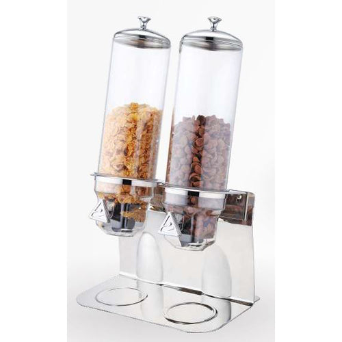 TWO 4L CEREAL DISPENSER - STAINLESS STEEL - SUNNEX # U13-1200