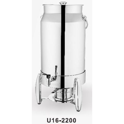 VERONA MILK URN 11.4 L WITH ICE TUBE AND FUEL HOLDER - STAINLESS STEEL - SUNNEX # U16-2200