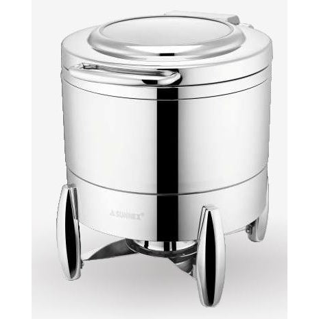 VERONA 10L SOUP PAIL WITH STAND - STAINLESS STEEL - SUNNEX # W10-2011