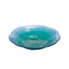 Coral Glass Plate Blue Green 8""