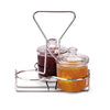 WIRE RACK CONDIMENT CADDY - HOLDS THREE CONDIMENT JARS - STAINLESS STEEL - VOLLRATH # WR-1010