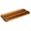RECTANGULAR PLATE - BROWN - WOODWARE # YG31132