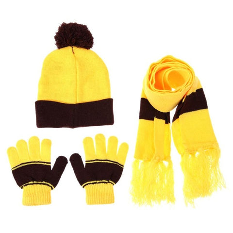 fb081b5091419 Children Hat Scarf Gloves Set Warm Autumn Winter Fashion Kids Baby Warm  Knitted Caps Gloves for