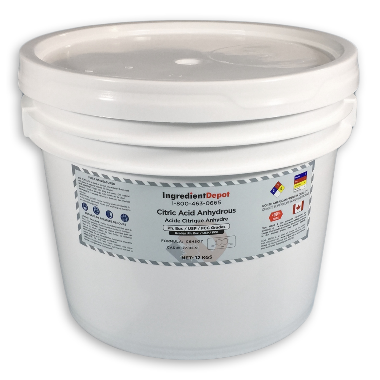 Citric Acid Pail 12 kgs
