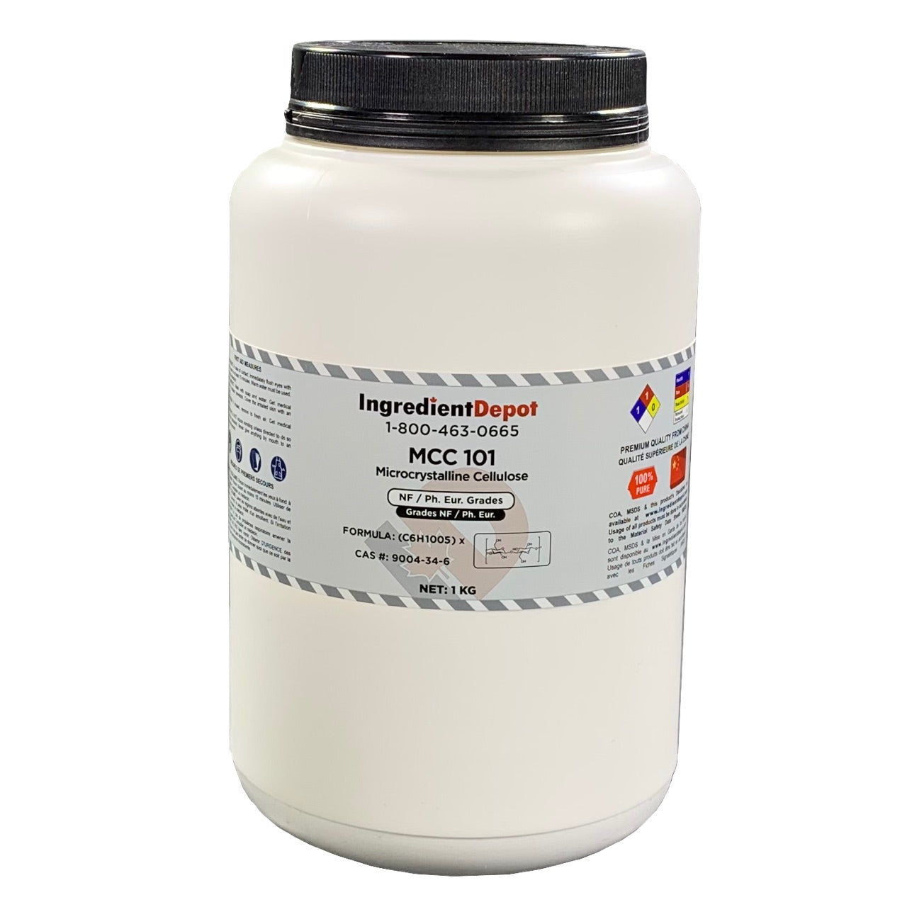 MCC 101 Microcrystalline Cellulose | 1 kg Jar