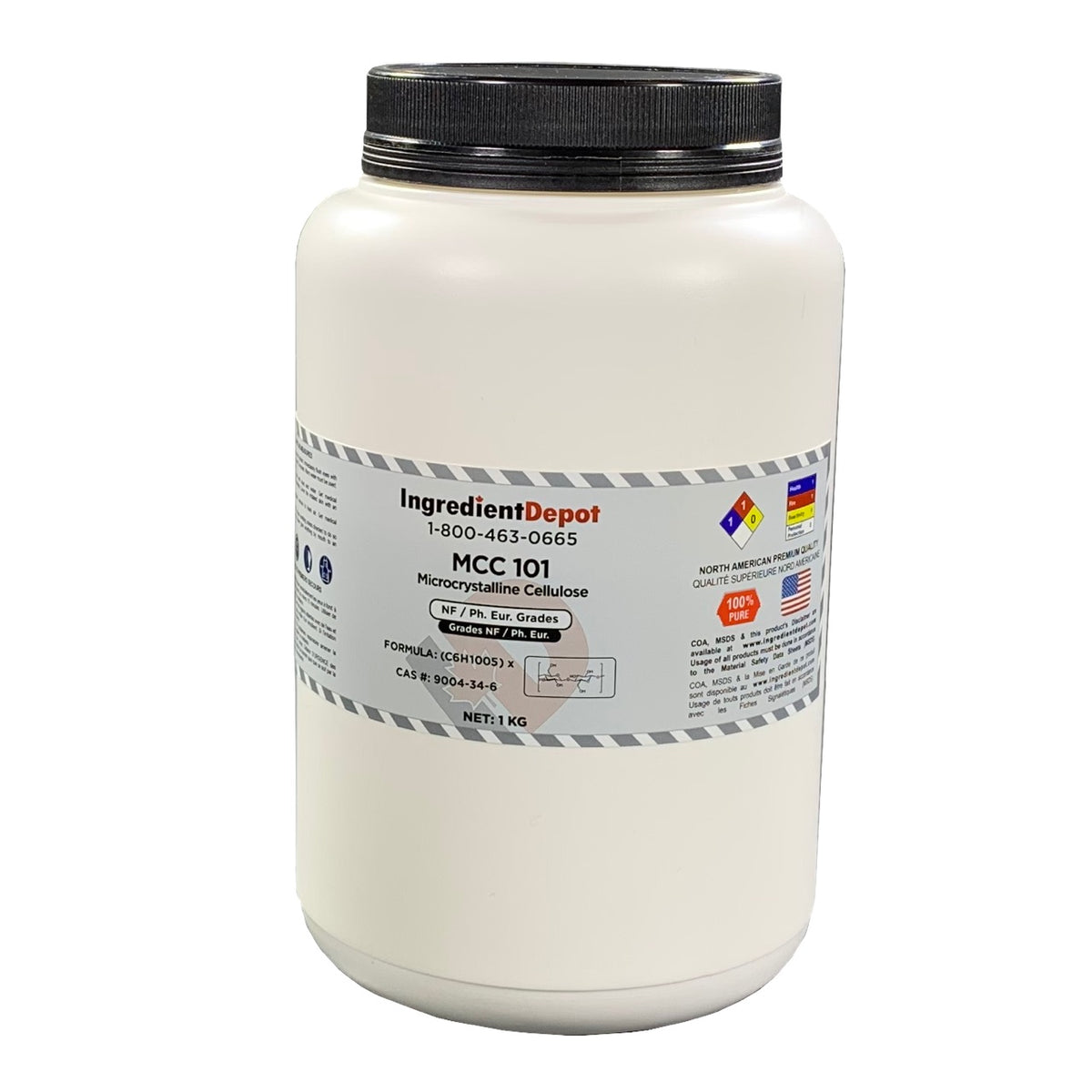 MCC 101 Microcrystalline Cellulose (North America) | 1 kg Jar
