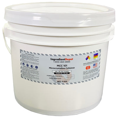 MCC 101 Microcrystalline Cellulose (North America) | 5 kgs Pail