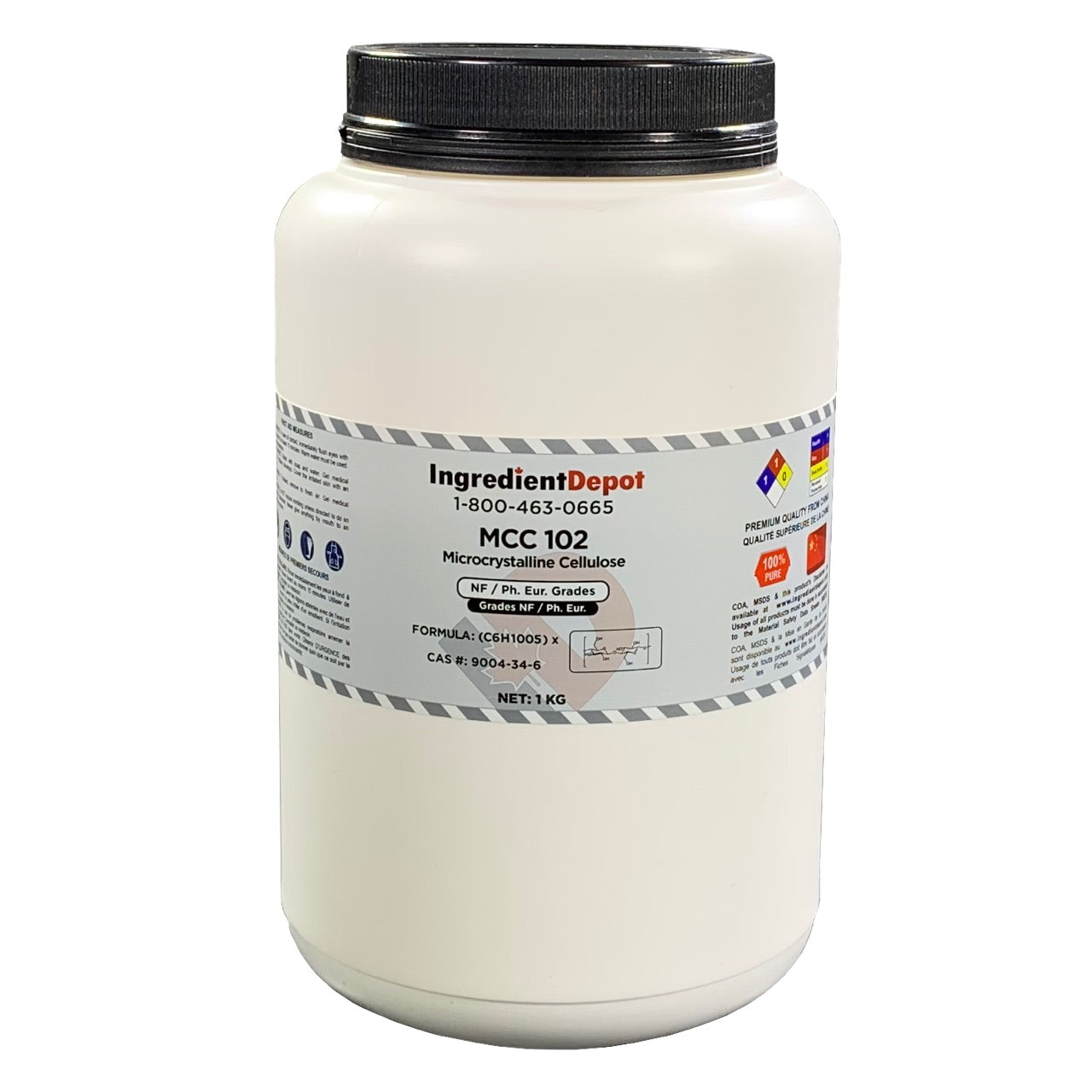 MCC 102 Microcrystalline Cellulose | 1 kg Jar