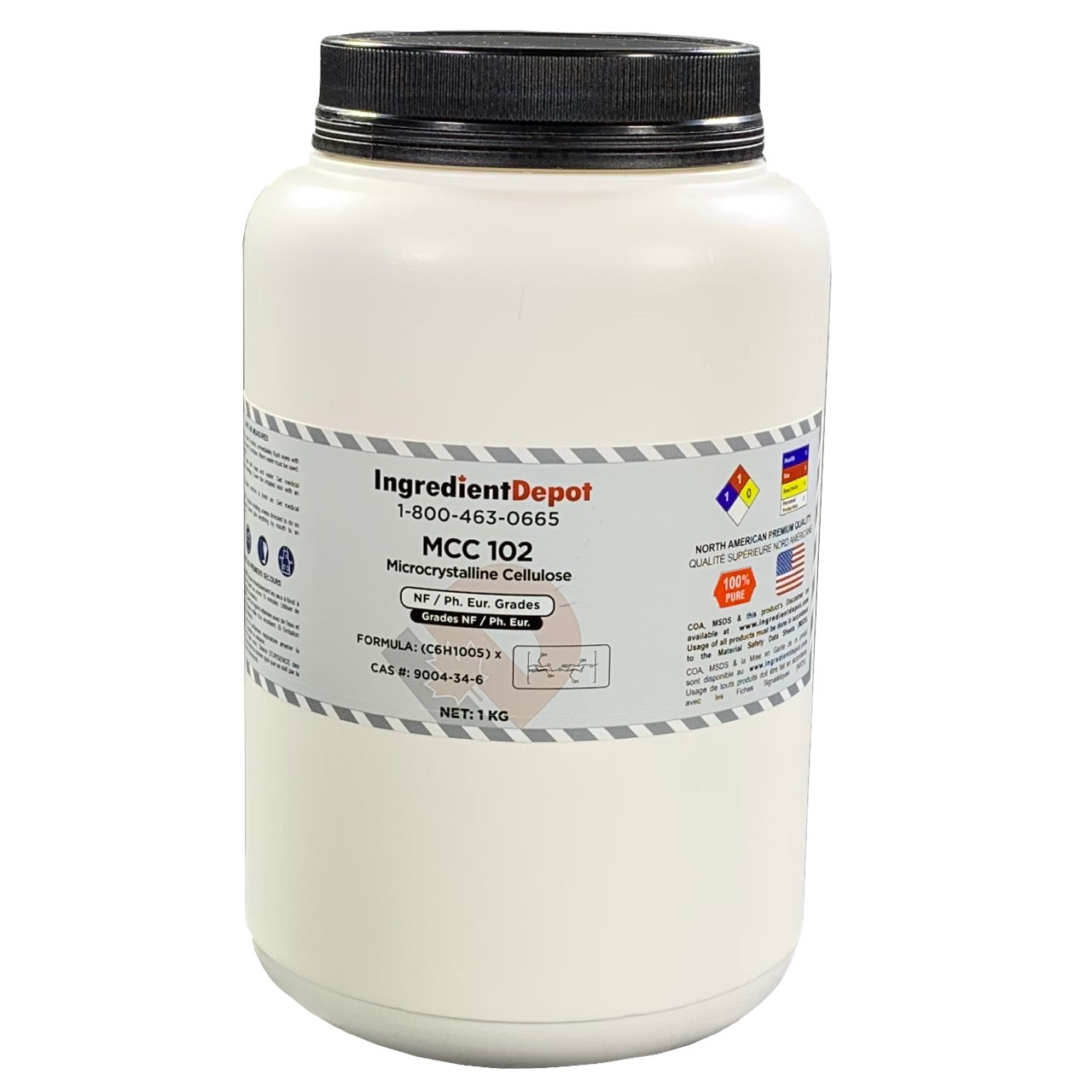 MCC 102 Microcrystalline Cellulose (North America) | 1 kg Jar