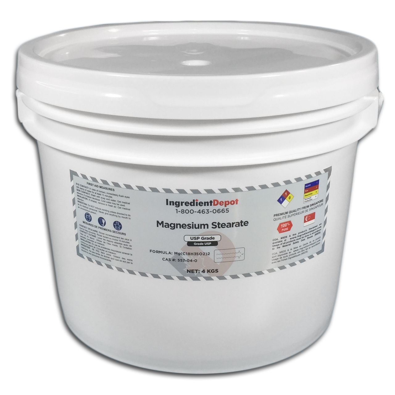 Magnesium Stearate Pail 4 kgs