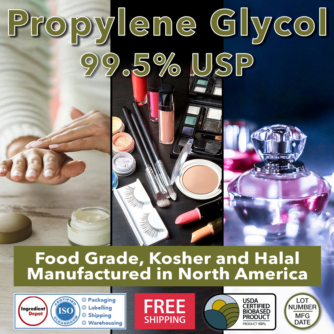 Propylene Glycol 99.5% USP 100% BIOBASED, Food Grade and Kosher from North America