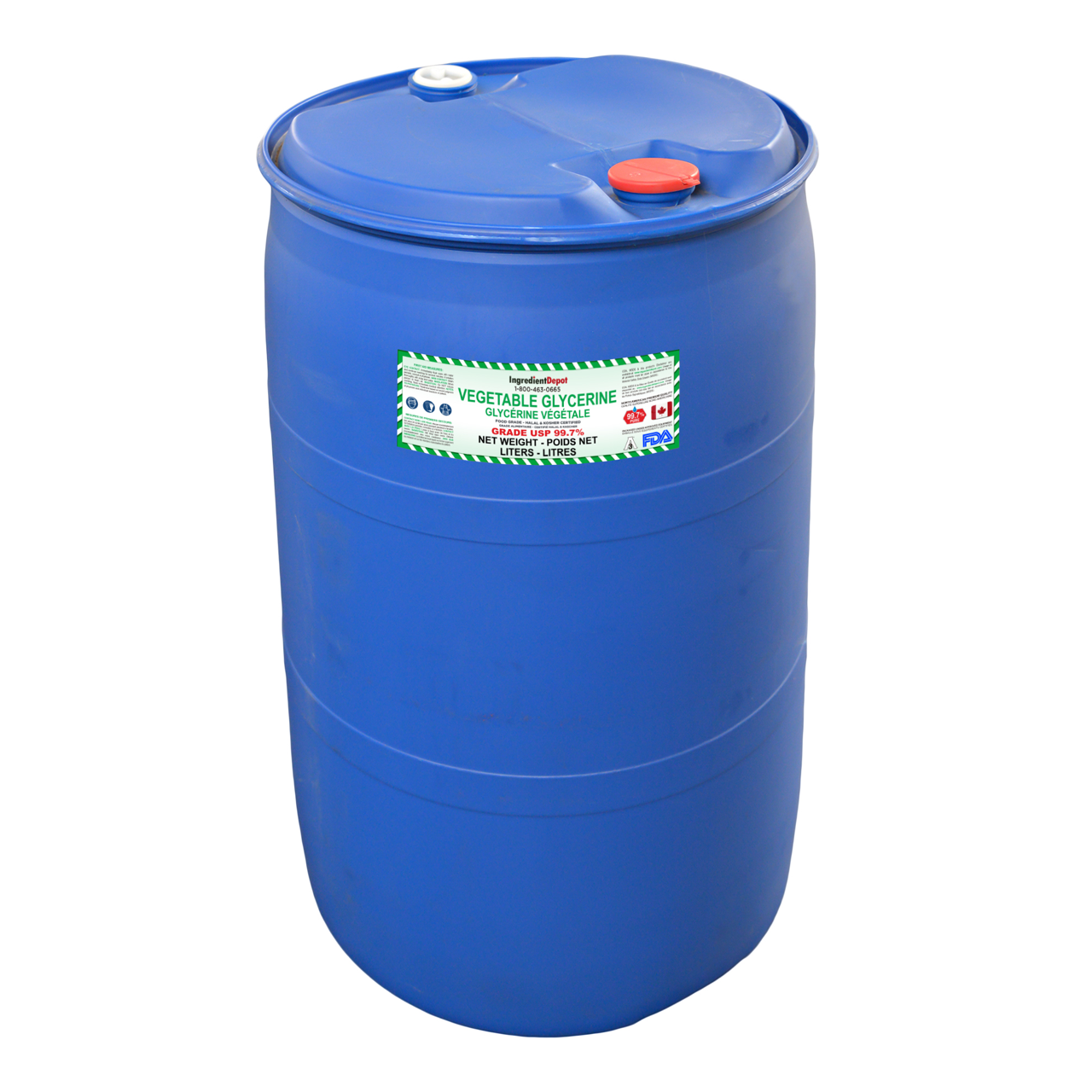 Vegetable Glycerin 99.7% Drum 200 Litres