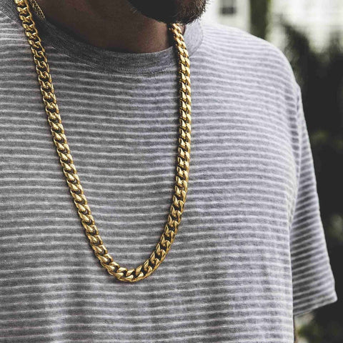 12mm Solid Cuban Link Chain
