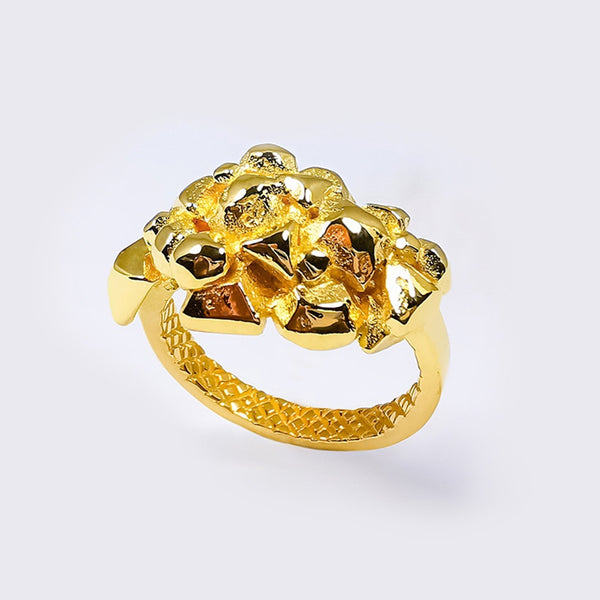 AGUNG Holy Mountain Ring Recycled Goldfill