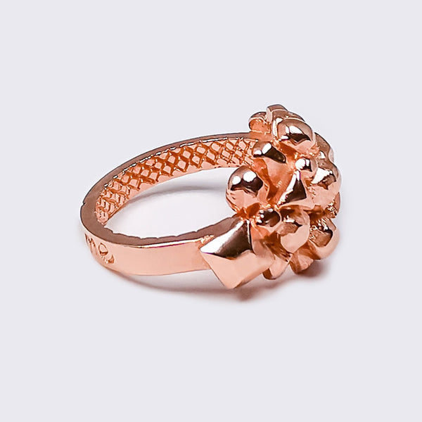 AGUNG Holy Mountain Ring Recycled Rosegoldfill