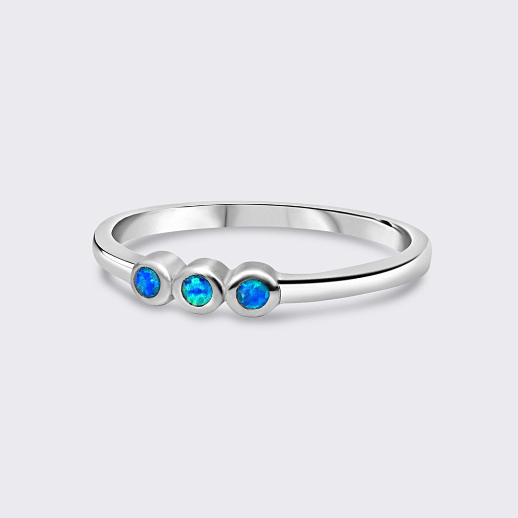 SETIA ring 925 silver blue opal