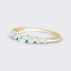 BELLE 7 Stone White Opal Ring