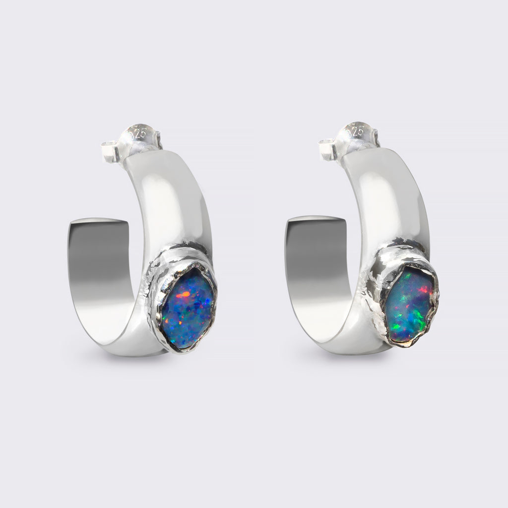 SURYA earrings sterling silver Australian Opal