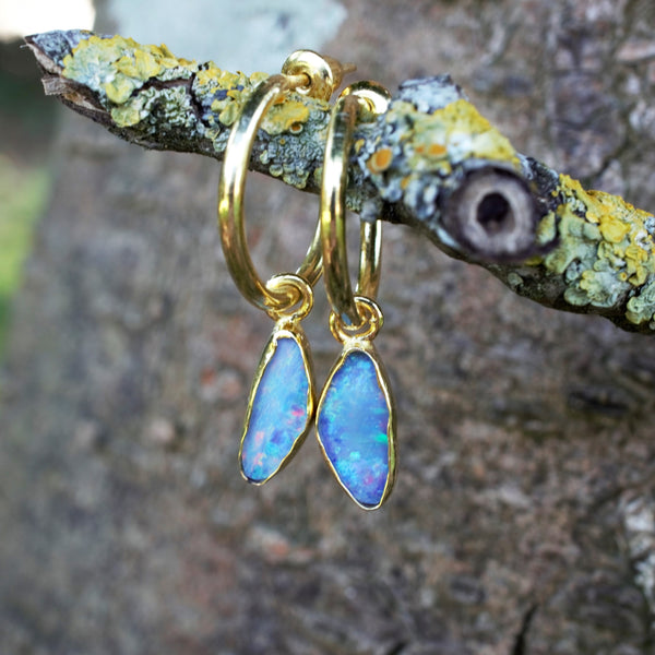 DRISHTI Recycled Gold Hoop & Bar Earrings