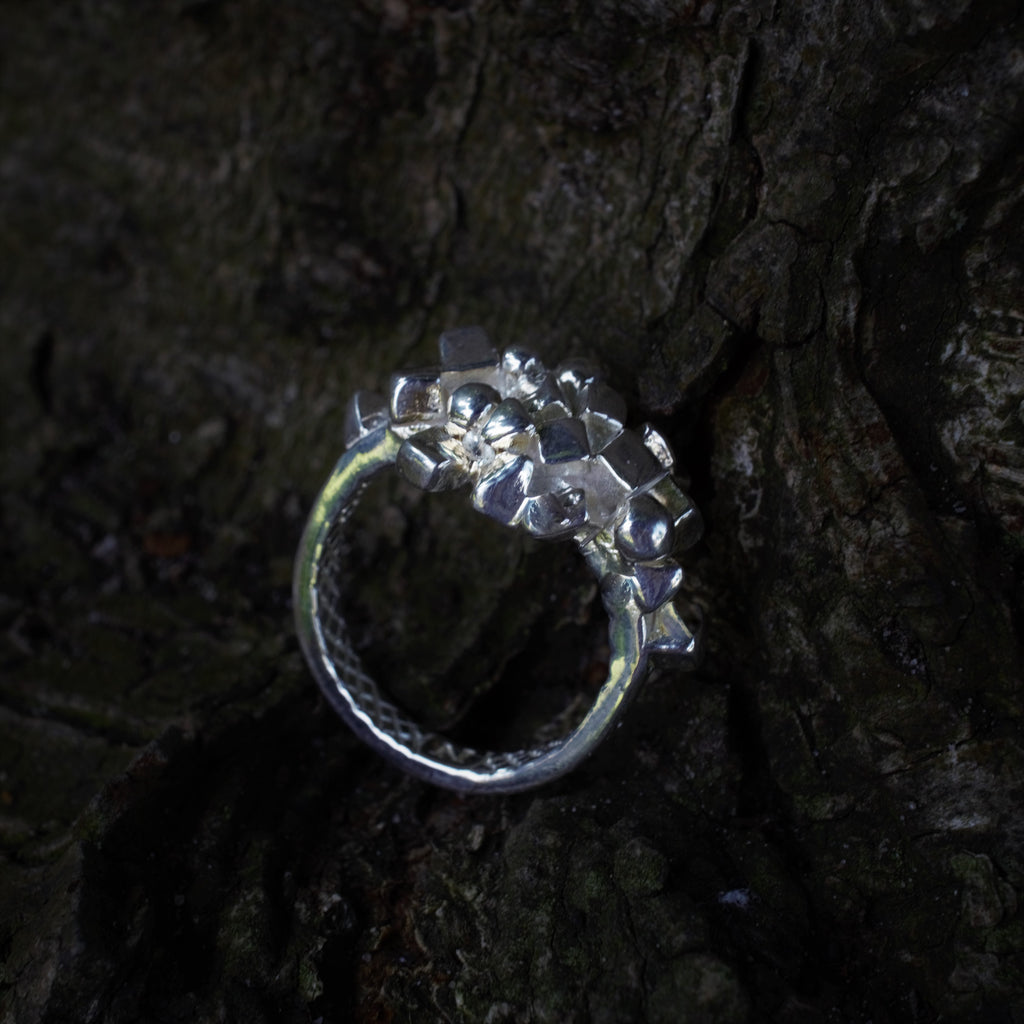 ALCHEMY Sacred Geometry Ring Recycled Silver