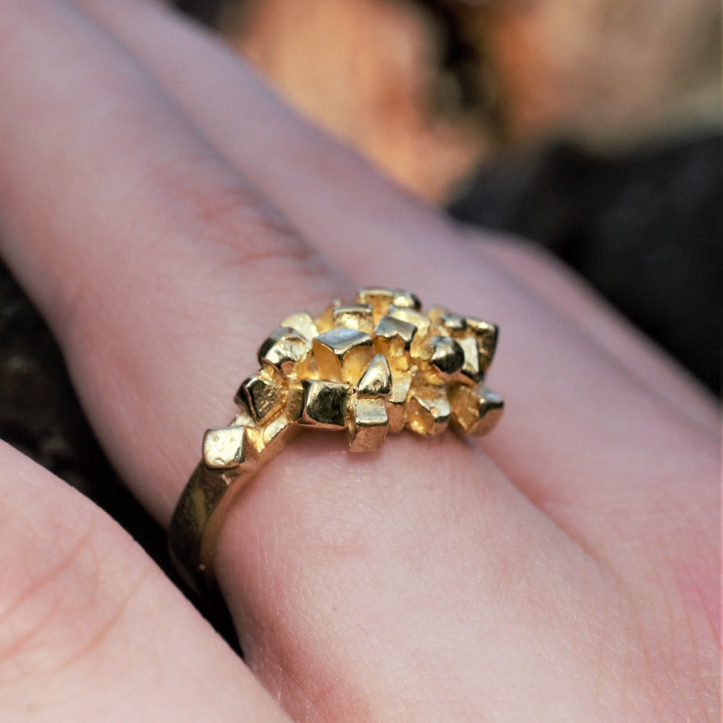 ALCHEMY Sacred Geometry Ring Recycled Goldfill