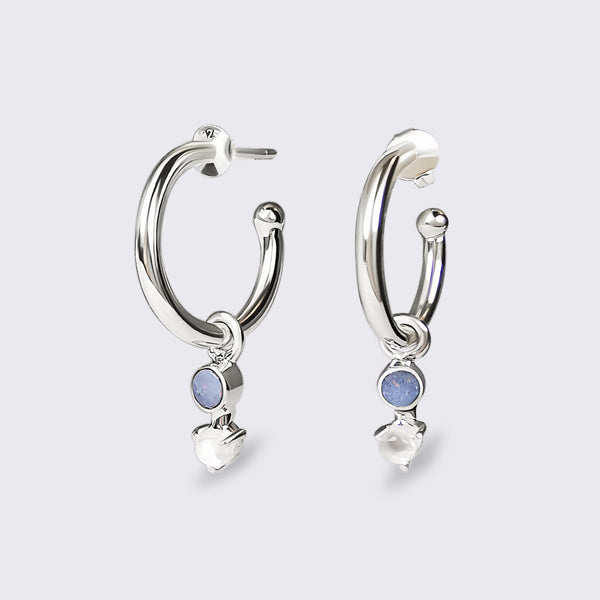 UMA 925 sterling silver opal & moonstone earrings
