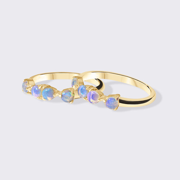 BECA Recycled Goldfill Ethiopian Opal Ring