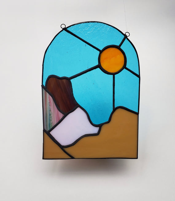 Pink Hills Desert Stained Glass