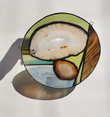 Abstract Geodes Stained Glass