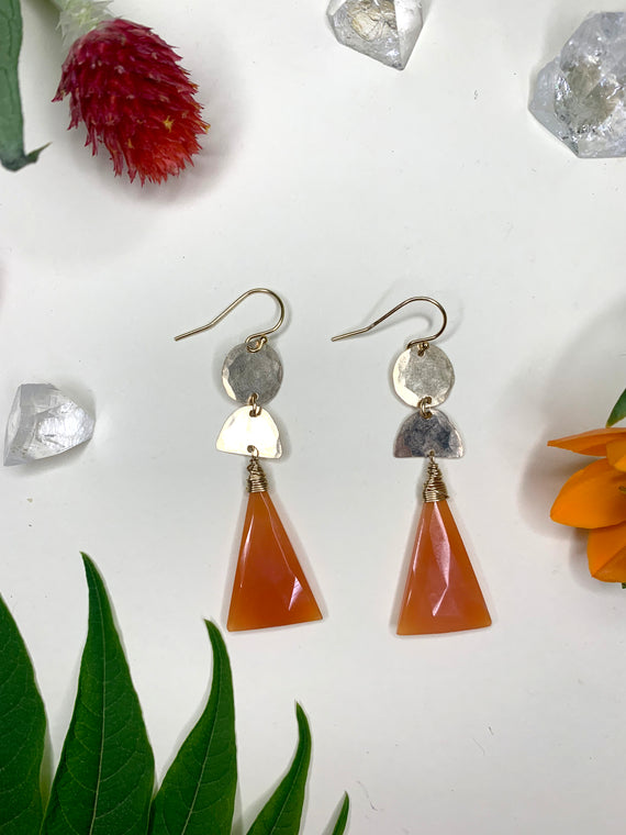 Rust Onyx Earrings