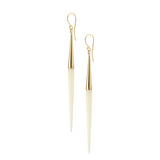 SOKO Capped White Quill Dangle Earrings